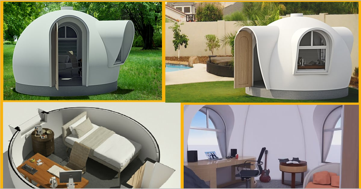 Our latest backyard guest cabin kit design for Backyard office kit
